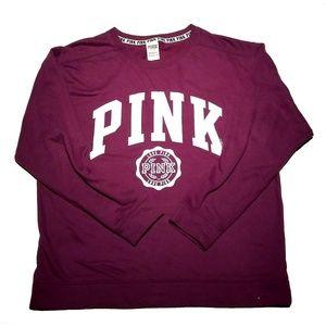 🆕 VS PINK | Maroon Classic Sweatshirt